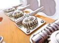 Bass Guitar Tuning Mechanism Stock Photography