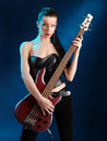 Bass guitarist Stock Photo