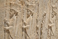 Bass-reliefs in Persepolis Stock Images