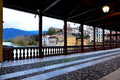 Bassanno del grappa veneto italy beautiful view on the deck of the alpine in bassano Stock Photography