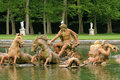 Bassin du char d apollon in the park of versailles palace Stock Photos