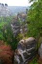 Bastei deutschland view from in german national park bear dresden Royalty Free Stock Photos