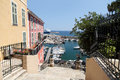 Bastia corsica view down to the harbour Stock Photography