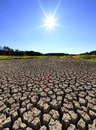 Bastica lake bright sun over dry near zadar after sunny hot summer season Royalty Free Stock Images