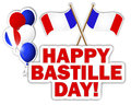Bastille Day stickers. Stock Photos