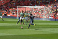 Bastos scores in Emirates Cup '10 Stock Image