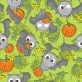 Bat Bring Pumpkin Seamless Pattern_eps