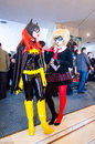 Bat Girls and Harley Quinn cosplayers