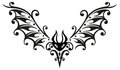 Bat halloween tribal abstract black vector art Stock Photography