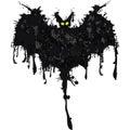 Bat. Happy Halloween card. Vector illustration Royalty Free Stock Photo