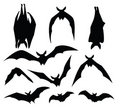 Bat silhouette Stock Photo
