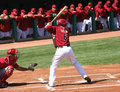 At bat, Stephen Drew in an Arizona Diamondbacks ga Royalty Free Stock Image