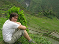 Batad village trekking Stock Photography