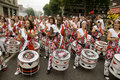 Batala performing at Notting Hill Carnival Royalty Free Stock Photography