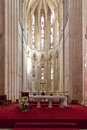 Batalha monastery altar and apse of the church gothic manueline masterpiece portugal unesco world heritage site Royalty Free Stock Photo