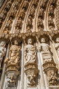 Batalha monastery apostles statues by the left of the gothic portal masterpiece of the gothic and manueline portugal unesco world Stock Photos