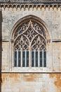 Batalha Monastery. Tracery Gothic window Royalty Free Stock Photo
