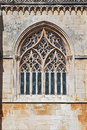 Batalha monastery tracery gothic window in capela do fundador founder's chapel portugal unesco world heritage site Stock Images