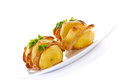 Batatas enchidas com bacon Fotografia de Stock Royalty Free