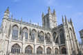 Bath abbey architecture somerest engalnd a famous landmark in the city of in somerset england Stock Image
