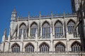 Bath abbey a famous landmark in the city of bath in somerset england fragment Royalty Free Stock Image