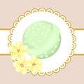 Bath bubble bomb. Aromatherapy bomb badge. Royalty Free Stock Photo