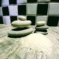 Bath Crystals And Balanced Zen Stones