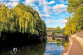 Bath england avon river view Royalty Free Stock Photos