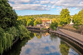 Bath england avon river view Royalty Free Stock Images