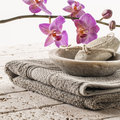 Bath and footcare with femininity Royalty Free Stock Photo