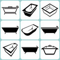 Bath icons set illustration Stock Photo
