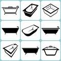 Bath icons set illustration Stock Photo