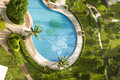 Bath luxury swimming pool, spa, in hainan island h Royalty Free Stock Photos