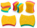 Bath sponge set Royalty Free Stock Images