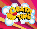 Bath Time Rubber Duck Royalty Free Stock Photo