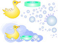 Bath Time Rubber Duck [VECTOR] Stock Photo