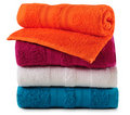Bath towels. Isolated Royalty Free Stock Photography