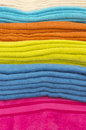 Bath towels under studio lights Stock Image