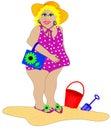 Bathing Beauty on the Beach Royalty Free Stock Photo