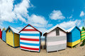 Bathing boxes on brighton beach - Melbourne - Oz Royalty Free Stock Photography