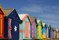 Bathing boxes in Melbourne Royalty Free Stock Photo