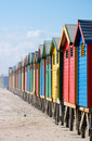 Bathing Hut Colors Stock Photos