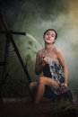 Bathing woman Royalty Free Stock Photo