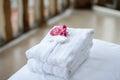 Bathrobe hotel hotel hotel Stock Photo