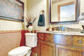Bathroom with antique washbasin cabinet Royalty Free Stock Photos