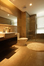 Bathroom corner eastphoto tukuchina indoor environment Royalty Free Stock Photography