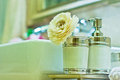 Bathroom corner eastphoto tukuchina still life Royalty Free Stock Images