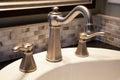 Bathroom faucet Royalty Free Stock Photo