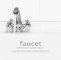 Bathroom faucet with running water on a light background Royalty Free Stock Photo