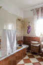 Bathroom flat interior with fornitures and lights Royalty Free Stock Photo